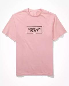 Áo thun American Eagle hồng nhạt