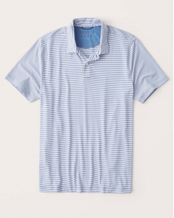 Polo Abercrombie AirKnit sọc xanh