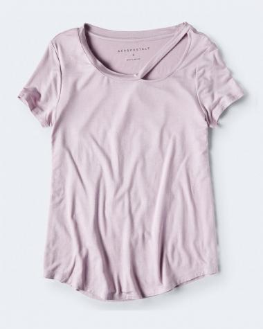 Áo Aero màu tím nhạt