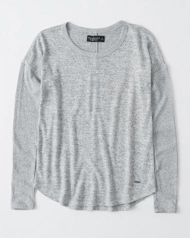 Áo len nữ Abercrombie màu xám